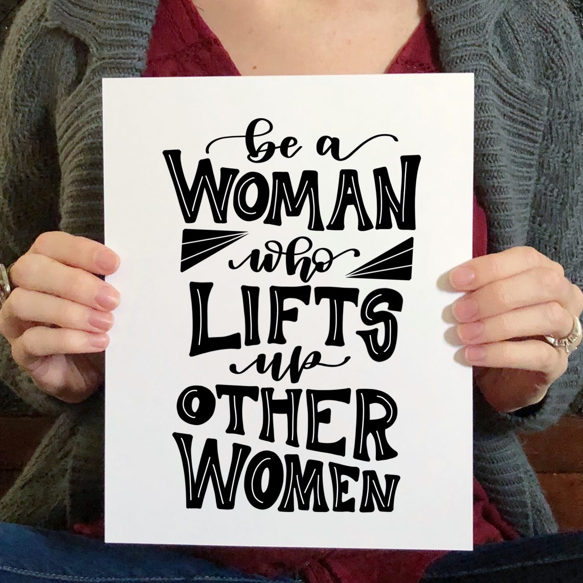 Art by Heather Lynne Woman Who Lifts Up Others