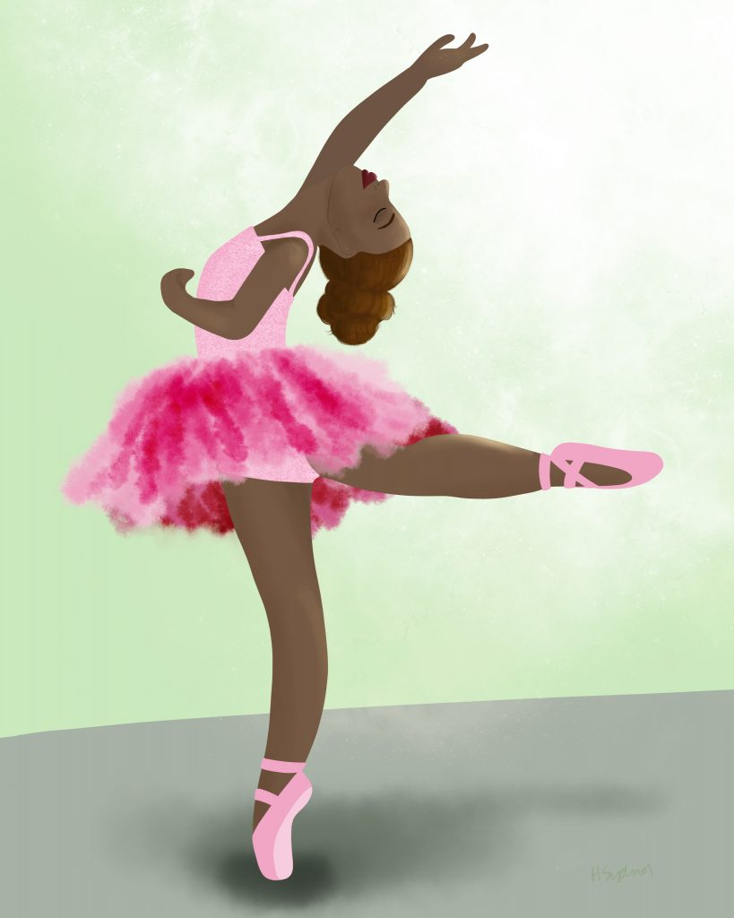 Art by Heather Lynne Black Ballerina Illustration