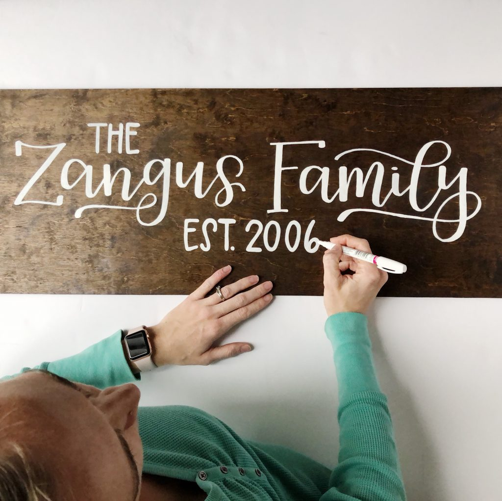 Art by Heather Lynne Hand Lettered Sign